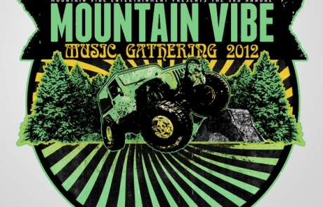 Mountain Vibe Logo stickers