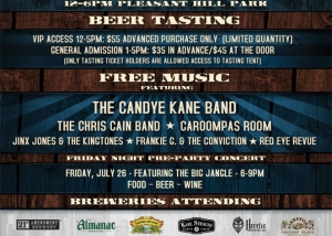 Blues brew event poster