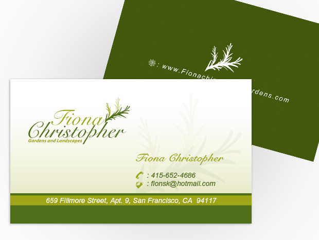 ... Landscaping Company Business Cards ...