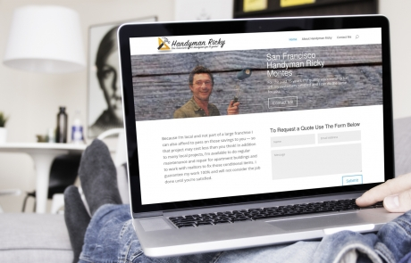 website design for handyman ricky