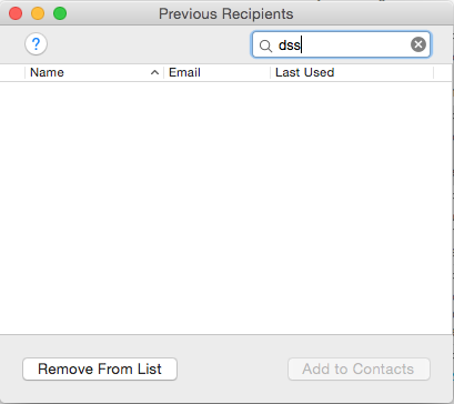 stop mac mail autofilling an email address