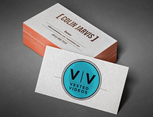 Film Production Company Logo and Business Cards – Vested Videos