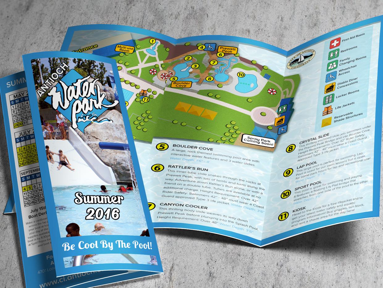 water park brochure design
